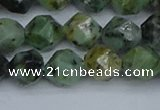 CNG7386 15.5 inches 8mm faceted nuggets African turquoise beads