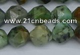 CNG7387 15.5 inches 10mm faceted nuggets African turquoise beads