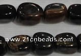 CNG739 15.5 inches 13*18mm nuggets blue tiger eye beads wholesale