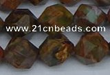 CNG7393 15.5 inches 12mm faceted nuggets green opal beads