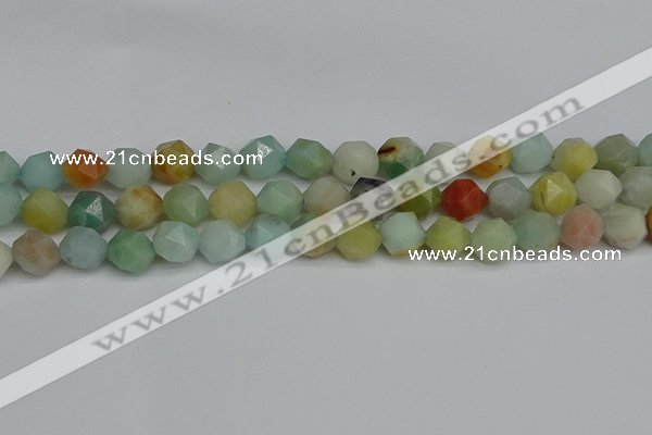 CNG7417 15.5 inches 10mm faceted nuggets amazonite beads