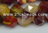 CNG7428 15.5 inches 12mm faceted nuggets mookaite beads