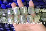 CNG7475 15.5 inches 18*25mm - 20*28mm faceted freeform prehnite beads
