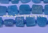 CNG7542 15.5 inches 6*8mm - 10*12mm freeform amazonite beads