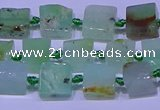 CNG7548 6*8mm - 10*12mm freeform Australia chrysoprase beads