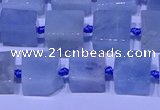 CNG7551 15.5 inches 12*14mm - 14*15mm freeform aquamarine beads