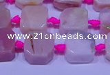 CNG7554 15.5 inches 11*12mm - 12*13mm freeform pink opal beads