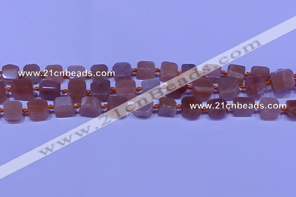 CNG7555 15.5 inches 11*12mm - 12*13mm freeform moonstone beads