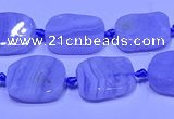 CNG7611 15.5 inches 10*14mm - 12*16mm freeform blue lace agate beads