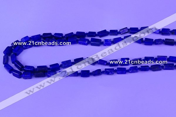 CNG7654 15.5 inches 5*6mm - 6*9mm nuggets lapis lazuli beads