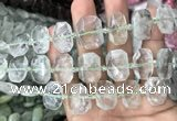 CNG7751 13*18mm - 15*25mm faceted freeform green quartz beads