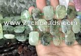 CNG7754 13*18mm - 15*25mm faceted freeform prehnite beads
