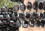 CNG7768 13*18mm - 15*25mm faceted freeform garnet beads