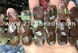 CNG7785 13*18mm - 15*25mm faceted freeform Australia chrysoprase beads
