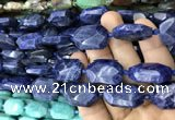 CNG7822 15.5 inches 13*18mm - 18*25mm faceted freeform sodalite beads