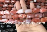 CNG7841 15*20mm - 18*25mm faceted nuggets red agate beads