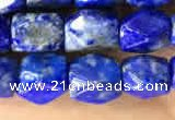 CNG7845 15.5 inches 6*8mm faceted nuggets lapis lazuli beads
