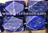 CNG7848 15.5 inches 12*16mm - 13*18mm faceted nuggets lapis lazuli beads