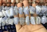 CNG7898 12*16mm - 15*20mm faceted nuggets blue chalcedony beads