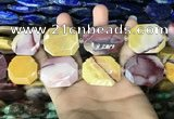 CNG7915 22*30mm - 25*35mm faceted freeform mookaite beads