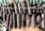 CNG7928 15.5 inches 10*25mm - 12*45mm faceted nuggets charoite beads