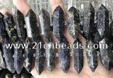CNG7949 10*22mm - 12*45mm faceted nuggets iolite gemstone beads