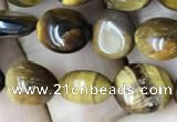 CNG8020 15.5 inches 6*8mm nuggets yellow tiger eye beads