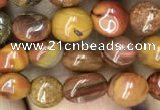 CNG8022 15.5 inches 6*8mm nuggets red moss agate beads