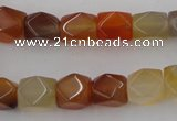 CNG803 15.5 inches 9*12mm faceted nuggets agate gemstone beads