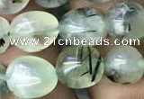 CNG8035 15.5 inches 8*10mm nuggets green rutilated quartz beads
