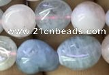 CNG8037 15.5 inches 8*10mm nuggets morganite beads wholesale
