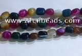 CNG8199 15.5 inches 10*14mm nuggets striped agate beads wholesale