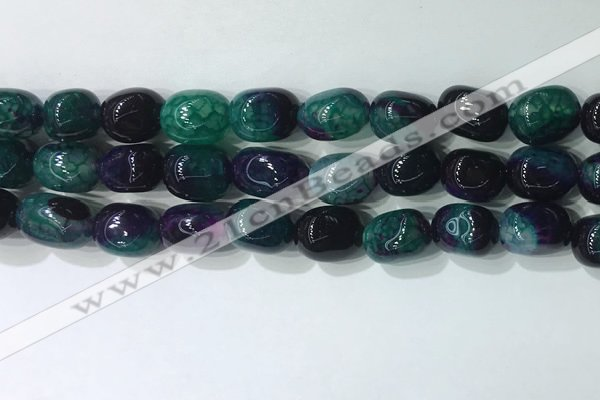 CNG8222 15.5 inches 12*16mm nuggets agate beads wholesale