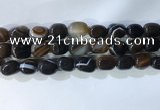 CNG8240 15.5 inches 12*16mm nuggets striped agate beads wholesale