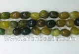 CNG8258 15.5 inches 13*18mm nuggets agate beads wholesale