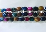 CNG8282 15.5 inches 13*18mm nuggets striped agate beads wholesale