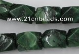 CNG838 15.5 inches 13*18mm faceted nuggets African jade beads