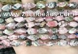 CNG8525 15.5 inches 7*10mm - 8*12mm faceted nuggets rhodochrosite beads
