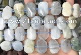 CNG8550 15.5 inches 13*18mm - 15*25mm faceted freeform aquamarine beads