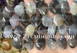 CNG8551 15.5 inches 13*18mm - 15*25mm faceted freeform grey agate beads