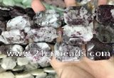 CNG8559 22*30mm - 25*35mm faceted freeform tourmaline beads