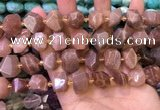 CNG8596 12*16mm - 13*18mm faceted nuggets moonstone beads