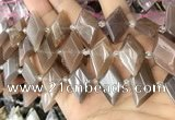 CNG8637 13*20mm - 15*25mm faceted freeform moonstone beads