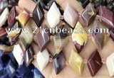 CNG8641 13*20mm - 15*25mm faceted freeform mookaite beads