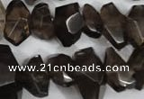 CNG866 15.5 inches 8*12mm – 14*22mm faceted nuggets smoky quartz beads