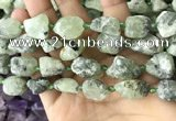 CNG8664 12*16mm - 18*25mm nuggets green rutilated quartz beads