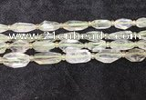 CNG8683 12*23mm - 15*25mm faceted freeform green quartz beads