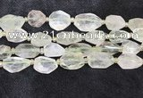 CNG8686 16*23mm - 25*30mm faceted freeform green quartz beads