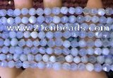 CNG8705 15.5 inches 6mm faceted nuggets blue chalcedony beads