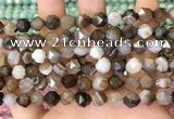 CNG8721 15.5 inches 8mm faceted nuggets agate gemstone beads